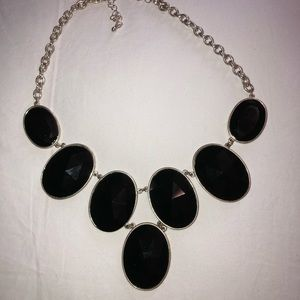 Black and Silver Statement Necklace
